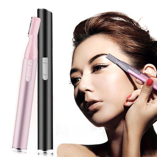 Electric Eyebrow Trimmer painless Makeup Eye Brow Epilator Mini Shaver Razors Portable Facial Hair Remover for Women depilator