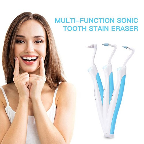 4 in 1 Electric Sonic Tooth Stain Eraser Plaque Remover Dental Cleaning Tool Tooth Teeth Whitening Sonic Oral Hygiene Polisher