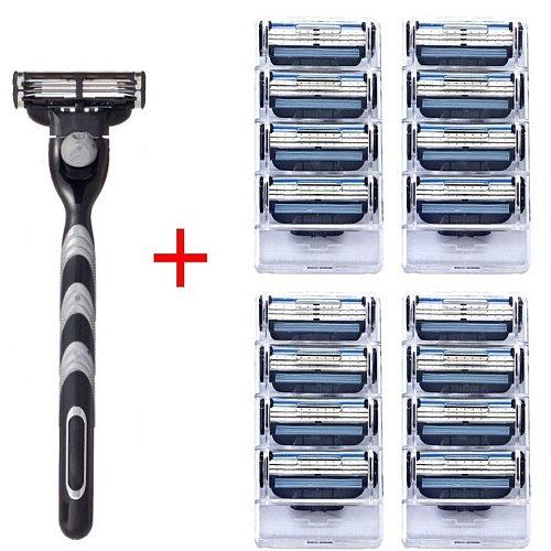 4pcs Mache 3 High quality Razor Blades Compatible Manual Razor Blades For Beard Shaver Trimmer Blades