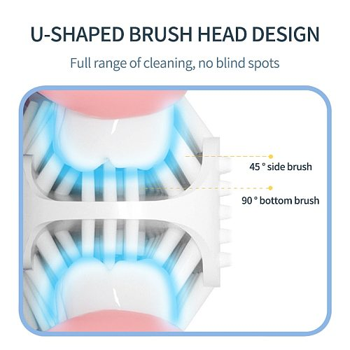 Electric Toothbrush for Kids Silicon Automatic Ultrasonic Teeth Tooth Brush Cartoon Pattern for Children Smart 360 Degrees U