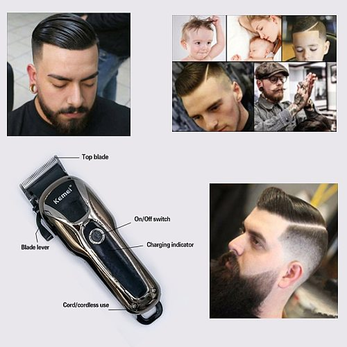 Kemei hair clipper professional hair Trimmer in Hair clippers for men electric trimmers LCD Display machine barber Hair cutter 5