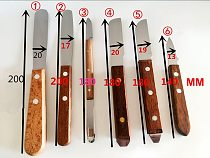 2pcs Dental spatula Gypsum wooden handle knife metal spatula plaster mixing knife dental Lab Tools impression materials