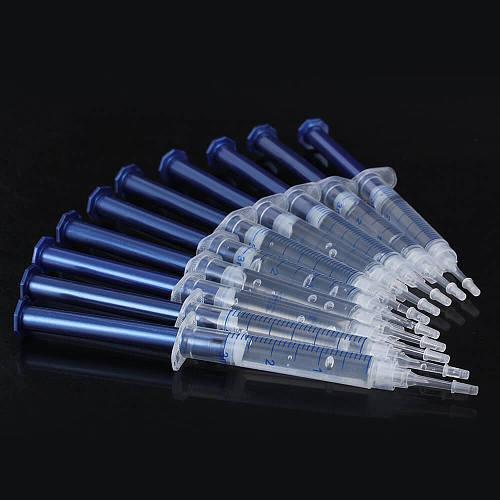 10 Gel 1 LED White Tooth Bleach Hot Teeth Whitening Carbamide Peroxide Dental Bleaching System Oral Gel Kit 3D Oral Hygiene
