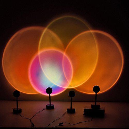 Modern Romantic Colorful Sunset Floor Lamp For Living Room Bedroom Atmosphere Dusk Date Decorative Led Light Gift New