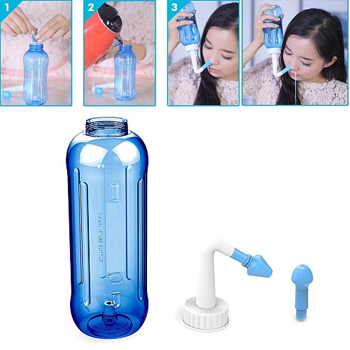 500ML Adults Nose Wash System Clean Children Sinus Nasal Pressure Neti Pot Practical