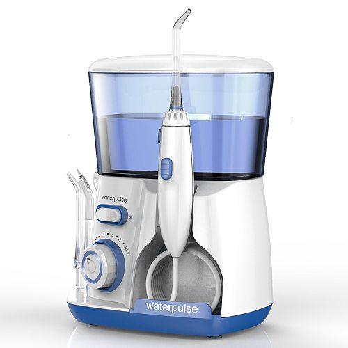 Oral Irrigator Water Flosser Portable Electric Dental waterpik 5 Jet tips 800ML Water Tank Tooth Care Teeth Cleaner Toothbrush
