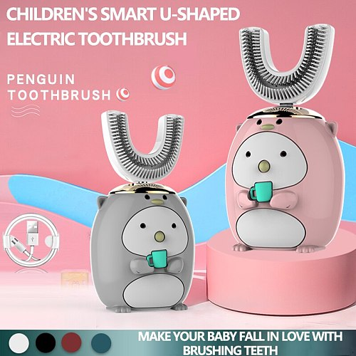 2020 Smart 360 Degrees XaoMi U Electric Toothbrush Kids Silicon Automatic Ultrasonic Teeth Tooth Brush Cartoon Pattern Children