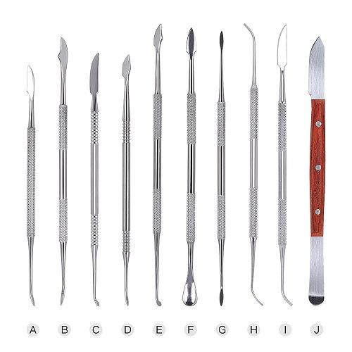 10pcs/Set Stainless Steel Dental Sculpture Instrument Dressing Knife Wax