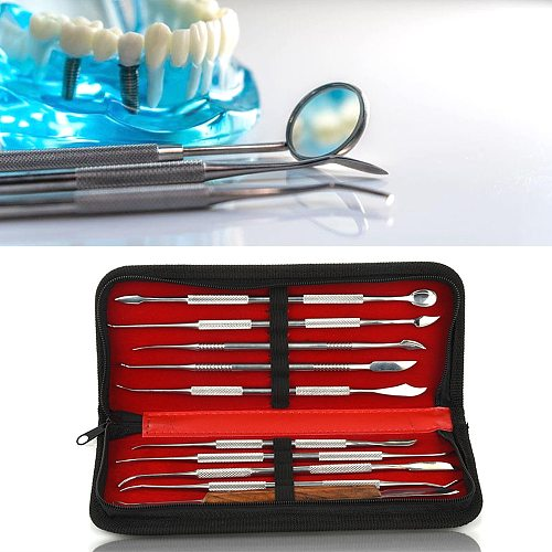 10Pc Dental Spatula Plaster Knife Practical Stainless Steel Versatile Teeth Wax Carving Tool Set Dental Instrument Dentist Tools