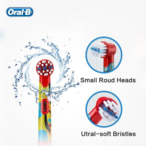 Oral B Toothbrush Heads Replacement Children Cartoon Soft Bristles Round Electric Tooth Brush Heads Oral Care for Kids 2Pcs/4Pcs