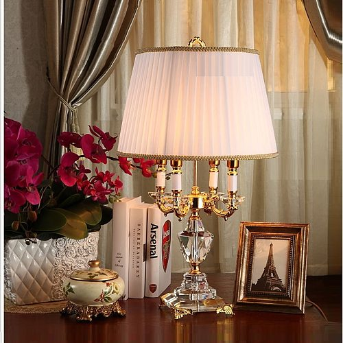 Modern Crystal Lamp lighting bedroom bedside lamp luxury fashion crystal table lamp Abajur bedside hotel table lamp k9 Luxury