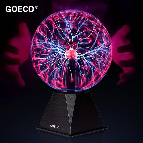 6 inch Nebula Plasma Ball Lamp Magic Ball Novelty Night Light Table Lamp for Party Decor Kids Christmas Gifts