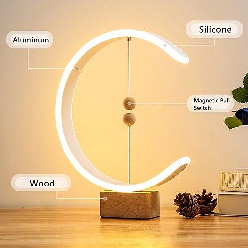 Modern Intelligent Desk Lamp Creative Magnetic Suspension Balance Decorative Bedside Night Light