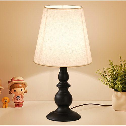 Black Vintage Table Lamp for Bedroom Modern Bedside Lamp Retro European Nightstand Desk Lamp Living Room Lights E27 Night Lights