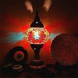 New Style Turkish mosaic table Lamp vintage art deco Handcrafted lamparas de mesa Glass romantic bed light lamparas con mosaicos