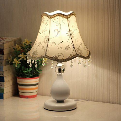 Vintage Crystal Table Lamps for Bedroom Nightstand European Bedside Lamp Living Room Lights Classic Led Desk Lamp E27 EU US UK