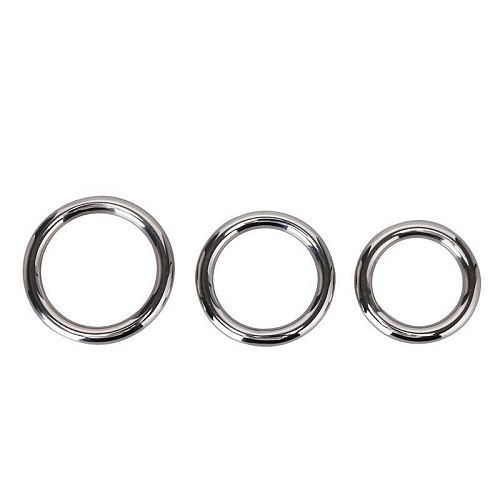 Stainless Steel Penis Rings Metal Semen Lock Ring Cock Sex Delay Products Male Afrodisiac Exercise Device Men Adult Outdoor Toys