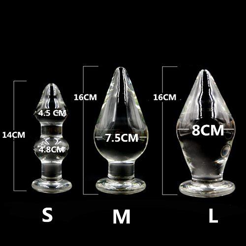 Super Big Anal Plug Large Transparent Crystal Glass Butt Plug Anal Dildo Huge Anal Sex Toys For Woman Man