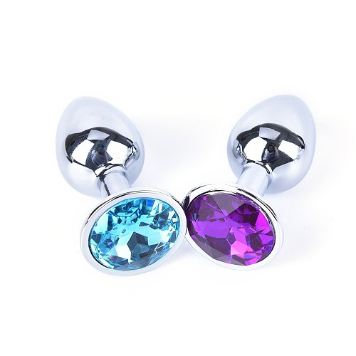 New Metal Crystal Anal Plug Booty Beads Jewelled Anal Butt Plug Sex Toys Products Random Stainless Steel for Men Couples 7cm