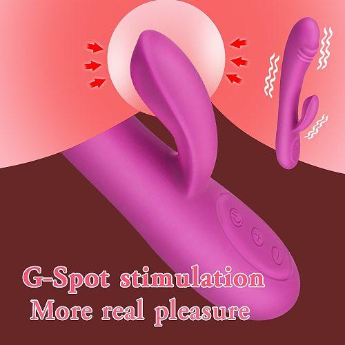Dildo Rabbit Vibrator Multi Speeds Dildo Vibrator Clitoris Stimulator vagina Massager sex toys for women G-Spot Vibrator