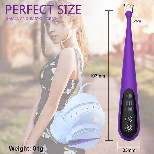 Powerful Clitoral Vibrator 10 Modes Precise Pinpoint Vibrations Waterproof G Spot Vibrator Sex Toy for Women Quick Orgasm Sexo