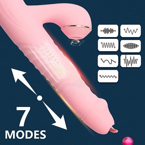 Thrusting Dildo G Spot Vibrator Sex Toys For Women Licking Sucker  Masturbators Clitoris Stimulator Fidget Toys For Adults 18+