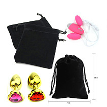Sex Products Black Storage Bags Dedicated Pouch Bag Package for Anal Plug Sex Toys Vibrator Jump Egg Vibrator Lubricant Bondage
