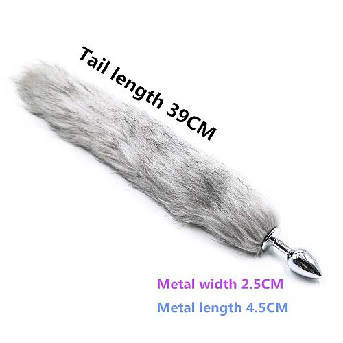 8 Kinds Erotic Fox Tail Anal Anal Butt Plug G-spot Vibrator Sex Toys For Women Men Couples Adult Games Buttplug  Sex Products