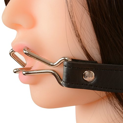 Stainless Steel Oral Fixation Open Mouth Gag Fellatio Mouth Plug Double Hook Dilator Bdsm Adult Games Slave Sex Toys For Couple