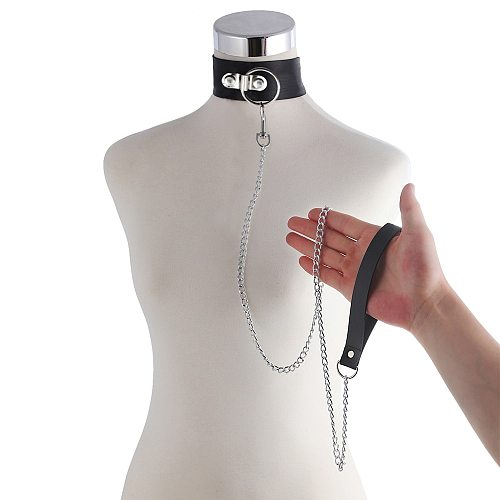 Sex Toys For Women Bdsm Fetish Bondage Set Slave Collar Leash Steel Chain Restricts Adult Game Chain Punish Neck Collars SexShop