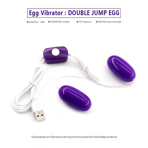 EXVOID Double Jump Egg Vibrator G-Spot Massager Sex Toys for Women Clitoris Stimulator USB Power Vibrator Adult Products