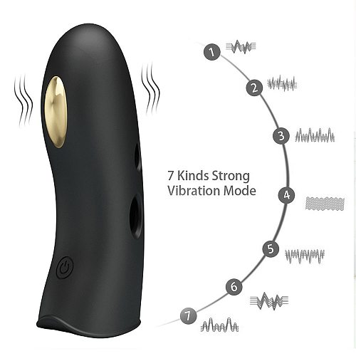 7 Frequency Clitoris Anal Stimulation G-Spot Massage Strap On Finger Vibrator Electric Shock Function Sex Toys for Man Woman