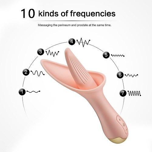Tongue Licking Vibrator Oral G-spot Clitoris Massager Stimulator Adult Sex Toys for Women Silicone Female Sex Product Masturbato