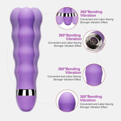 more modes real dildo Vibrator for Women Soft Female Vagina Clitoris Stimulator Massager Masturbator Sex Products for Adults