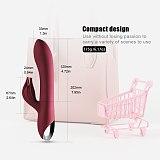 Vibrator 10 Speed USB Rechargeable Powerful Dildo Rabbit Vibrator for Women Clitoris G-spot stimulation Massage Adult sex toys