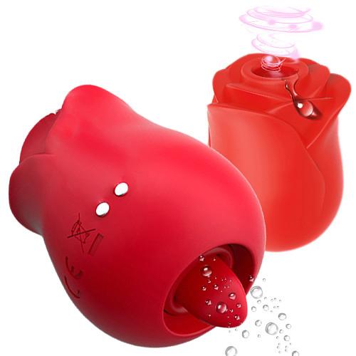 2 Function Tongue Lick Vibrator Sucker Vibrator For Women Nipple Sucker Oral Licking Clitoris Stimulation Rose Like Sex Toys