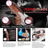 Realistic Huge Dildo Dual-Density Silicone Penis with Strong Suction Cup Play Flexible Big Dick G-spot Massage Adult Toys Women