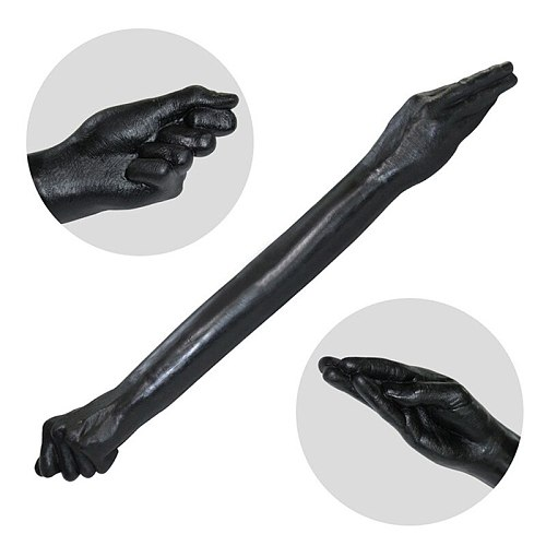 New Long Arm Fisting Black Fist Dildo Huge Double Ended Dildos Anal Plug Dilator Adult Sex Toys For Woman Lesbian Masturbation