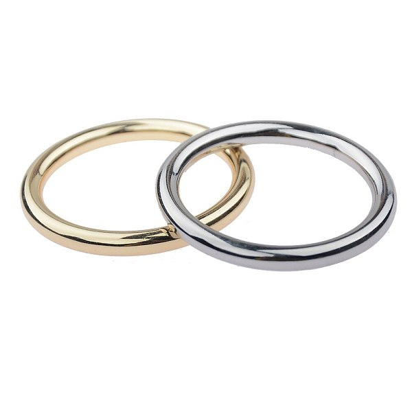 30mm Classic Stainless Steel Semen Lock Rings Gold Silver Foreskin Block Penis Ring Ghost Exerciser Man Sex Toys Products