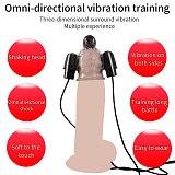 Penis Head Vibrator Glans Trainer Delay Ejaculation Adult Sex Toys For Men Male Masturbator Cock Massager Three Bullet Vibrators