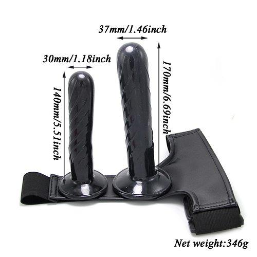 Strapon Double Dildo for Couples Sextoys Strap on Harness Lesbian Sex Toys Ultra Elastic Belt Pants Dildos for Women Sex Shop