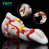 YOCY Colorful Fantasy Dildo Huge Silicone Anal Butt Plug Vaginal G-Spot Massager Sex Toy For Men Lesbian Masturbater