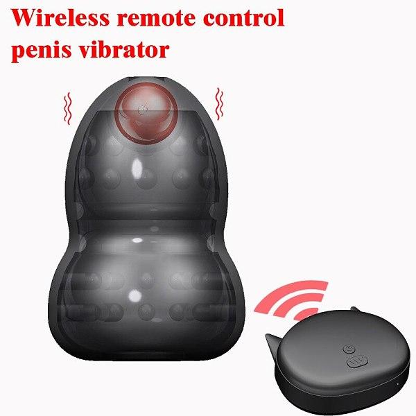 Vibration Penis Sleeve Wireless Remote Control Vibration Ball Stretcher Penise Enlargement Adult Sex Toys For Men Masturbation