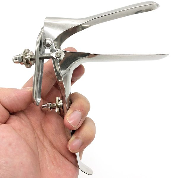 Female Stainless Steel Mirror Expansion Device Vaginal Medical Urethral Dilator Vaginal Speculum Expander Self-Exam