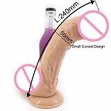 24*5cm Super Large Realistic Dildo Women's Masturbator G-Spot Big Dick for Lesbian Anal Plug Sex Toys for Couples Glass Dildos