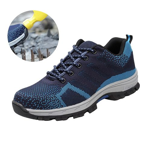 Indestructible Shoes Men Women Anti-smashing Steel Toe Safety Boots Puncture-Proof Work Sneakers Breathable Shoes Zapatos