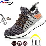 Safety Work Shoes Construction Men Outdoor Steel Toe Cap Shoes Men Puncture Proof High Quality Lightweight Safety Boots