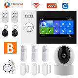 YS PG107 Tuya Security Alarm System Kit Smartlife App Control With Ip Camera Auto Dial Motion Detector WIFI Gsm Home Smart Alarm