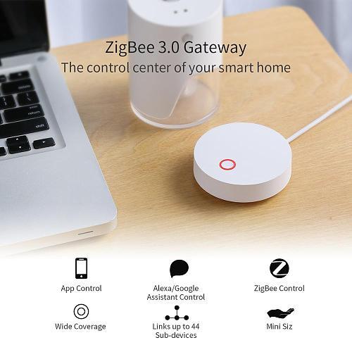 Smart Tuya ZigBee Hub Gateway Smart Home Bridge Smart Life APP Wireless Remote Controller Work With Tuya Zigbee Sensors