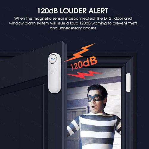 2021 KERUI Wireless Door/Windows Sensor Alarm 300ft 120dB Anti-Theft Smart Remote Control For Kids Cabinet Safety Home Security